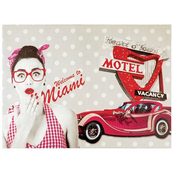 Selections by Chaumont Glitter Canvas Art Welcome to Miami