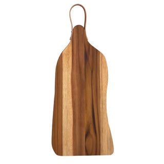 Pacific Merchants Teak Wood Cutting Board with Hanging Strap