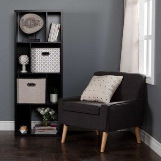 South Shore Reveal 8-Cube Shelving Unit with 2 Fabric Storage Baskets