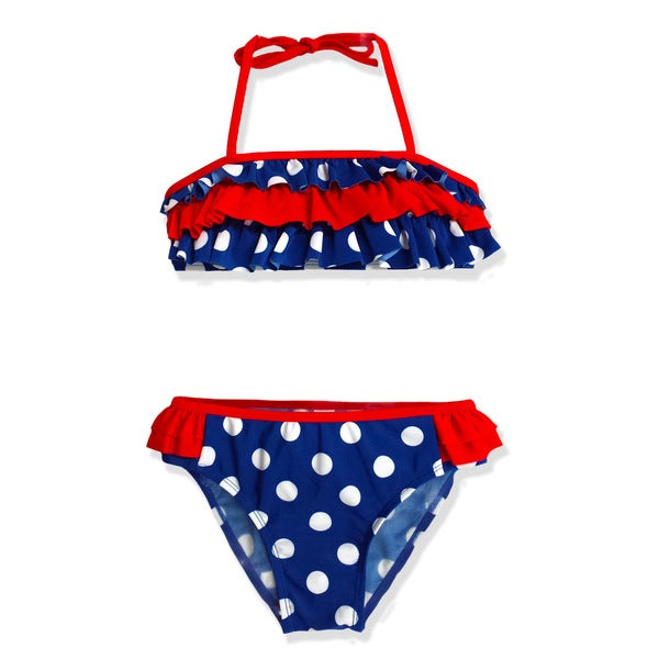 Jump'N Splash Girls' Blue Polka Dot Bikini