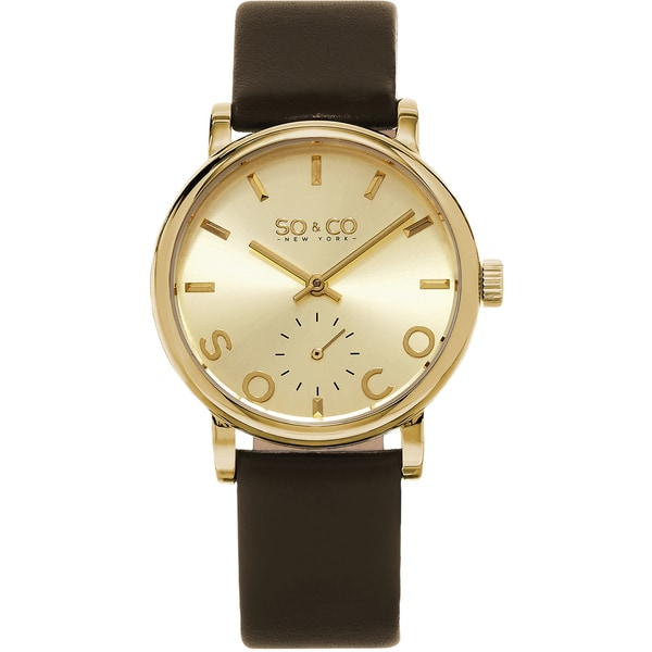 SO&CO New York Women's Madison Quartz Leather Strap Watch 17118699