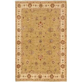 ecarpetgallery Peshawar Oushak Yellow Wool Rug (6' x 9'2)