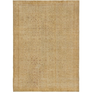 ecarpetgallery Anatolian Sun Wash Yellow Wool Rug (6'6 x 9'3)