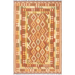 ecarpetgallery Izmir Kilim Brown Wool Kilim (6'7 x 9'10)