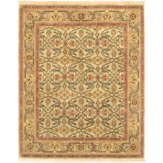ecarpetgallery Jamshidpour Beige Wool Rug (7'9 x 9'8)