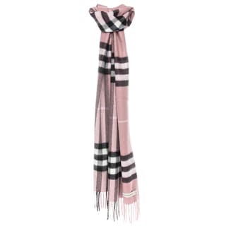 Burberry Classic Ash Rose Check Cashmere Scarf