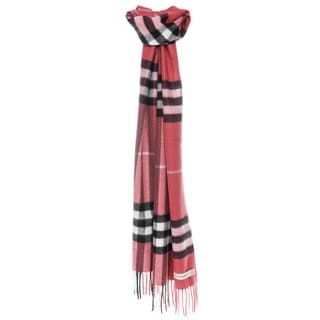 Burberry Cashmere Classic Pink Check Scarf