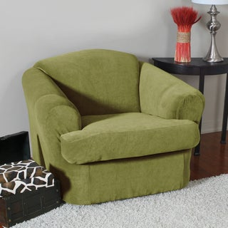 Eastwood Stretch Corduroy 2-Piece Chair Slipcover