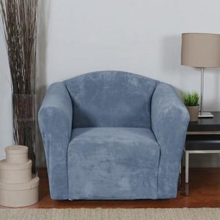 Hanover Stretch Plush 1-Piece Chair Slipcover