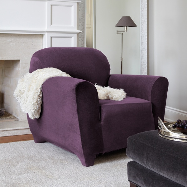 Maude Modern Stretch 1-Piece Chair Slipcover