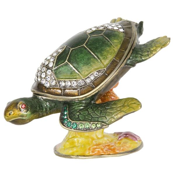 Reef Dweller Turtle Trinket Box