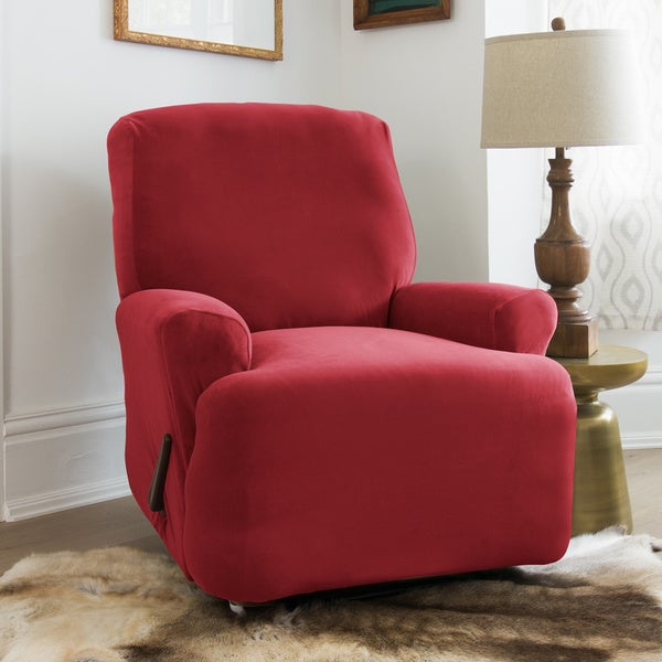 Stretch Velvet Recliner Slipcover