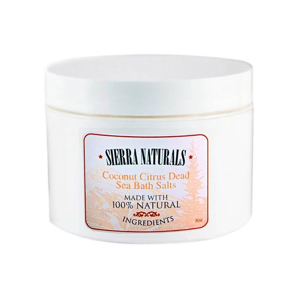 Sierra Naturals Handmade Organic Scented Coconut Citrus Dead Sea Bath Salts