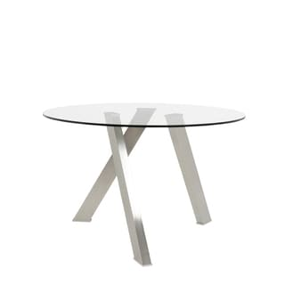 Frederick Brushed Stainless Steel Dining Table