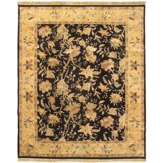 ecarpetgallery Jamshidpour Blue Wool Rug (7'1 x 9'1)