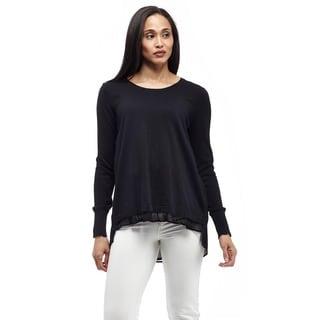 La Cera Women's Long Sleeve Pullover Top