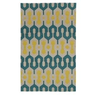Genevieve Gorder Spain Rectangle Flat Woven Rug (8' x 11')