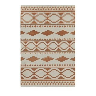 Genevieve Gorder Heirs Rectangle Cinnamon Flat Woven Rug (8' x 11')