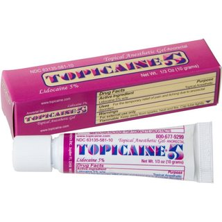 Topicaine 5 Skin Numbing Topical Anesthetic 5% Lidocaine Gel
