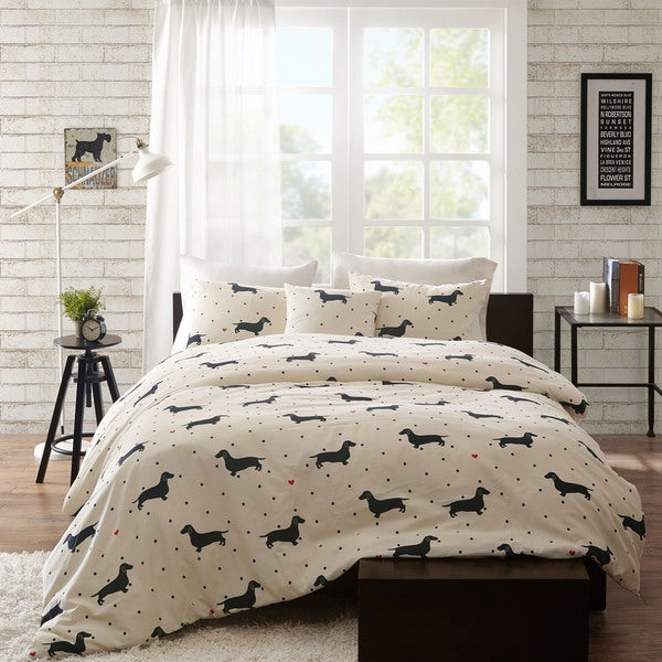 Hipstyle Hannah Cotton 4 Piece Duvet Cover Set 18100173