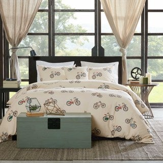 HipStyle Milo Cotton 4-piece Duvet Cover Set