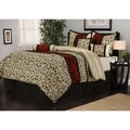Bella Jacquard Red/Beige/Black 7-piece Comforter Set