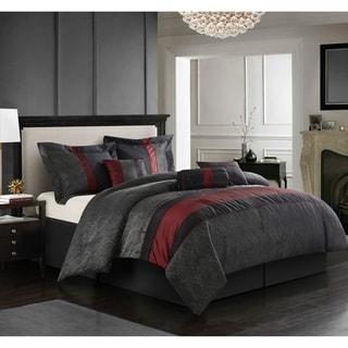 Corell Red/Black 7-piece Comforter Set