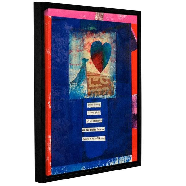 ArtWall Elena Ray 'Bird, Heart, Love' Gallery-wrapped Floater-framed Canvas 22112310