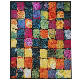 Home Dynamix Splash Collection Collection 634 Mulit-Colored Tiles 7'10 X 10'2 Area Rug