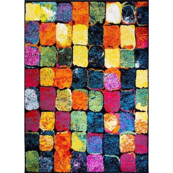 Pop Abstract Block Rug (5'2 x 7'2)