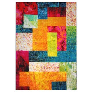 Pop Color Block Rug (7'10 x 10'2)