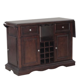 Oh! Home Salem Dark Cherry Kitchen Island