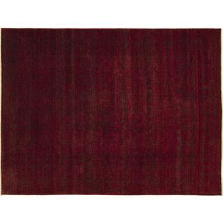 Indo Modern Jumanova Red Hand-knotted Rug, (9'0 x 11'9)