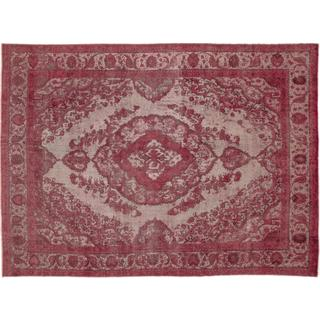 Distressed Angra Mainyu Pink Hand-Knotted Rug, (9'7 x 12'1)