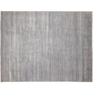 Fine Grass Mojgan Grey Hand-knotted Rug, (9'0 x 11'9)
