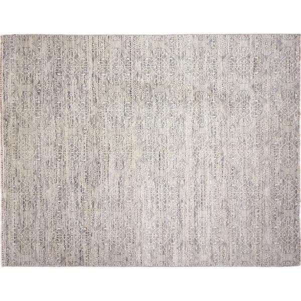 Fine Oushak Nadya Grey Hand-knotted Rug, (7'10 x 10'0)