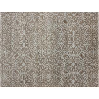 Fine Oushak Mohidil Blue Hand-knotted Rug, (9'1 x 12'0)