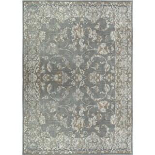 Ariel Oriental Soft Blue/Grey Rug (5'2' x 7'2)