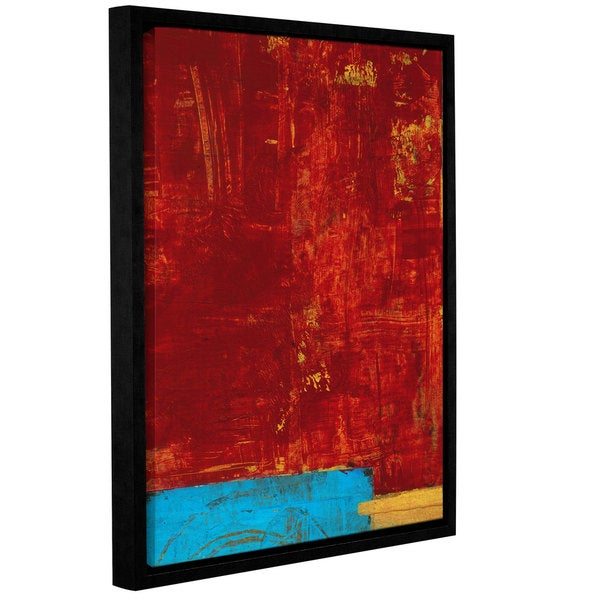 ArtWall Elena Ray 'Red Abstract' Gallery-wrapped Floater-framed Canvas - Multi 17120229