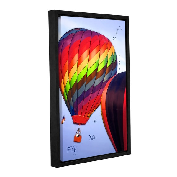 ArtWall Linda Parker 'Fly Me To The Moon' Gallery-wrapped Floater-framed Canvas