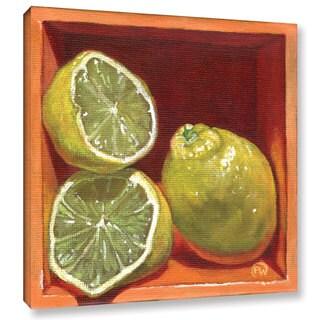 ArtWall Paige Wallis 'Luscious Lemon' Gallery-wrapped Canvas