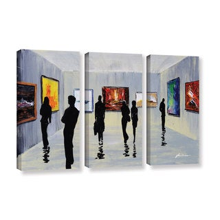ArtWall Milen Tod 'Admiration' 3 Piece Gallery-wrapped Canvas Set