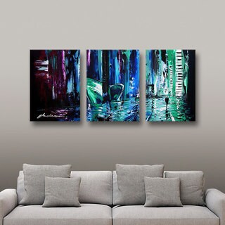 ArtWall Milen Tod 'City Of Musice' 3 Piece Gallery-wrapped Canvas Set