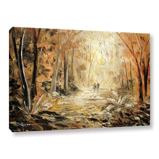 ArtWall Milen Tod 'Couple'S Stroll' Gallery-wrapped Canvas