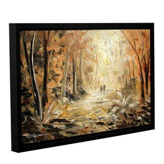 ArtWall Milen Tod 'Couple'S Stroll' Gallery-wrapped Floater-framed Canvas