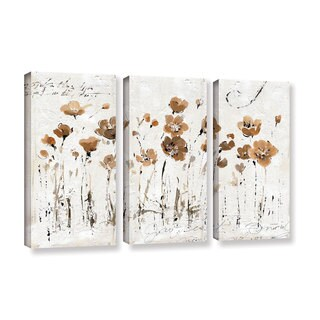 ArtWall Lisa Audit's Abstract Balance VI, 3 Piece Gallery Wrapped Canvas Set
