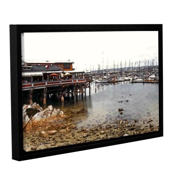 ArtWall Linda Parker 'Old Fisherman'S Wharf - California' Gallery-wrapped Floater-framed Canvas