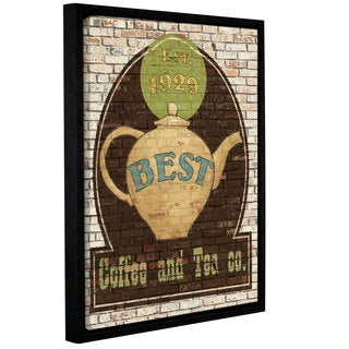 ArtWall Avery Tillmon's Best Coffee And Tea, Gallery Wrapped Floater-framed Canvas