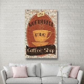 ArtWall Avery Tillmon's Wonderful Coffee Shop, Gallery Wrapped Canvas