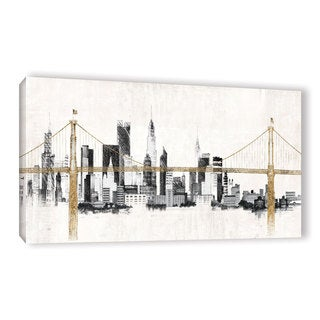 ArtWall Avery Tillmon's Bridge And Skyline, Gallery Wrapped Canvas